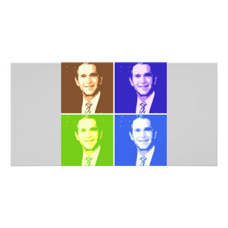 George W Bush Pop Art Card