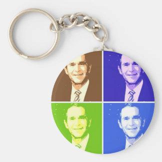 George W Bush Pop Art Keychain