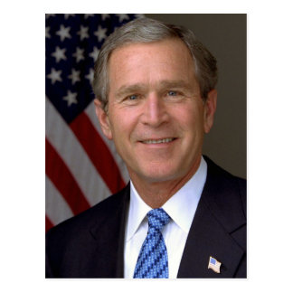 George W Bush Postcard