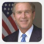George W Bush Square Sticker