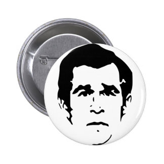 George W. Bush Stencil Button
