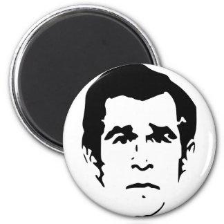 George W. Bush Stencil 2 Inch Round Magnet