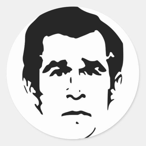 George W. Bush Stencil Round Sticker