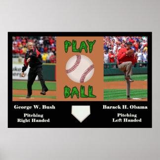 George W Bush vs Barack H Obama Posters