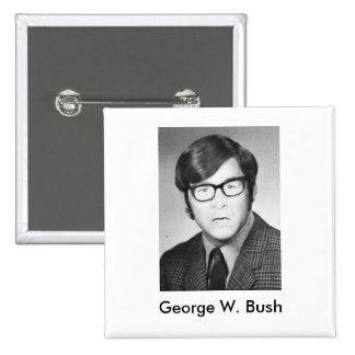 George W. Bush Yearbook photo Pinback Button