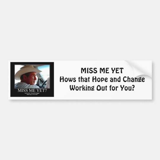 GEORGE-W-HOPE BUMPER STICKER