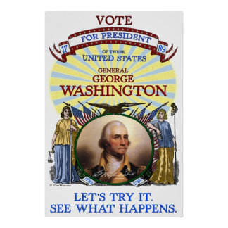 George Washington 1789 Election Poster (White)