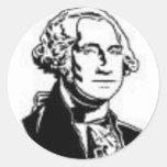 George Washington 1 Round Stickers