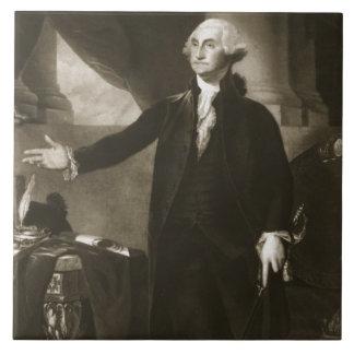 George Washington, 1r presidente del Sta unido Azulejo Cuadrado Grande