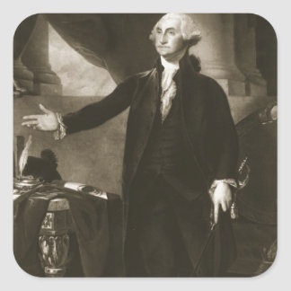 George Washington, 1r presidente del Sta unido Pegatina Cuadrada