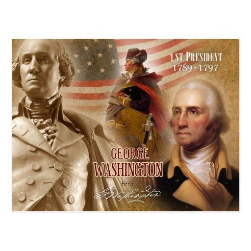 George Washington - 1st President of the U.S. Post Card