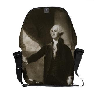 George Washington, 1st President of the United Sta Messenger Bag