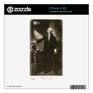 George Washington, 1st President of the United Sta Skins For iPhone 4