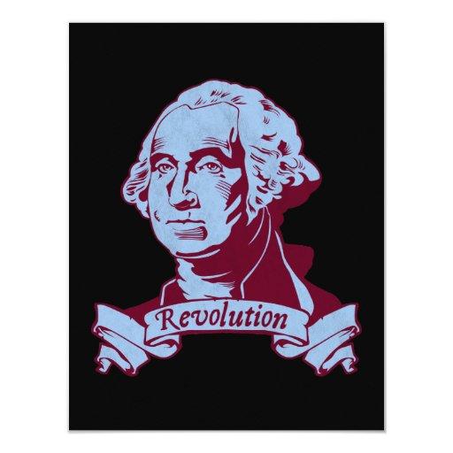 "George Washington 4.25"" X 5.5"" Invitation Card"