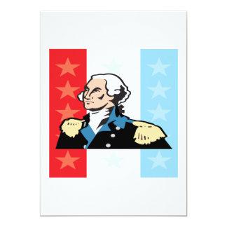 George Washington 5x7 Paper Invitation Card