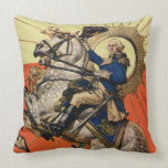 George Washington a caballo Cojín Decorativo