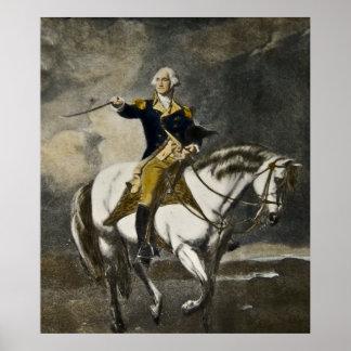 George Washington a caballo en Trenton Póster
