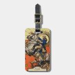 George Washington a caballo Etiqueta De Equipaje