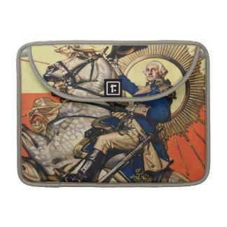 George Washington a caballo Fundas Para Macbooks