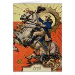 George Washington a caballo Tarjeton