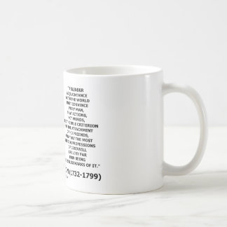George Washington Actions Not Words True Criterion Coffee Mug