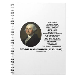George Washington Actions Not Words True Criterion Notebook