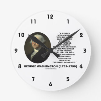 George Washington Actions Not Words True Criterion Round Clock