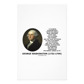 George Washington Actions Not Words True Criterion Stationery