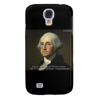 George Washington Actions Not Words Wisdom Gifts Samsung Galaxy S4 Cases