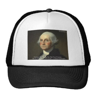 George Washington Actions Not Words Wisdom Gifts Mesh Hats