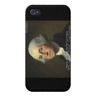 George Washington Actions Not Words Wisdom Gifts iPhone 4 Covers