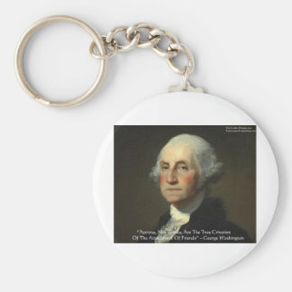 "George Washington ""Actions Not Words"" Wisdom Gifts Keychain"