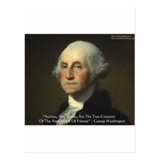 George Washington Actions Not Words Wisdom Gifts Post Cards