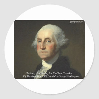 George Washington Actions Not Words Wisdom Gifts Stickers