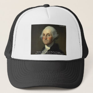 "George Washington ""Actions Not Words"" Wisdom Gifts Trucker Hat"