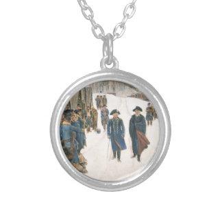George Washington and Baron von Steuben Silver Plated Necklace