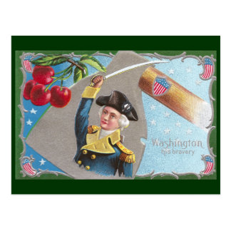 George Washington and Cherries Postcard