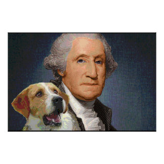 "George Washington and foxhound ""Liberty Belle"" 2 Poster"