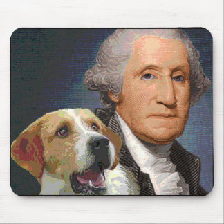 """George Washington and his dog """"Liberty Belle"""" Mouse Pad"""