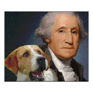 "George Washington and his dog ""Liberty Belle"" Poster"