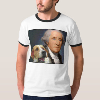 "George Washington and his dog ""Liberty Belle"" T-shirt"