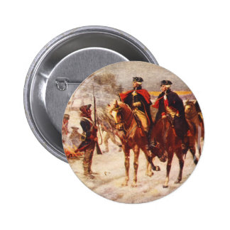 George Washington and Lafayette at Valley Forge Button