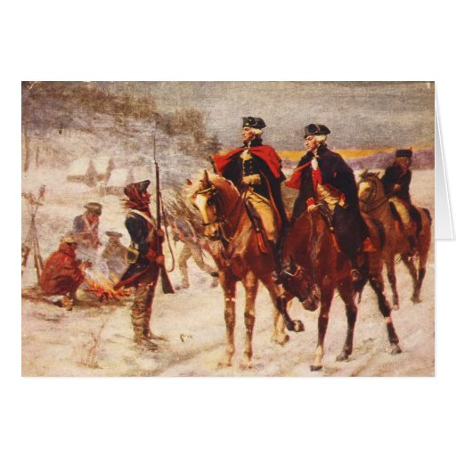 George Washington and Lafayette at Valley Forge Greeting Card