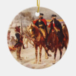 George Washington and Lafayette at Valley Forge Christmas Ornaments