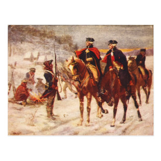 George Washington and Lafayette at Valley Forge Post Cards