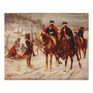 George Washington and Lafayette at Valley Forge Print