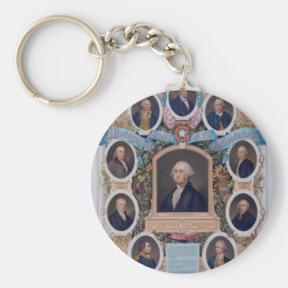 George Washington and The Masons Of The Revolution Basic Round Button Keychain