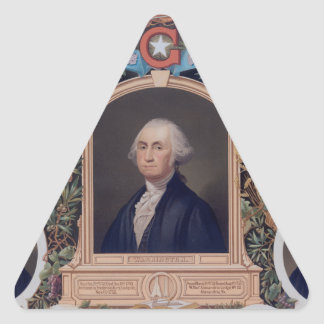 George Washington and The Masons Of The Revolution Triangle Stickers