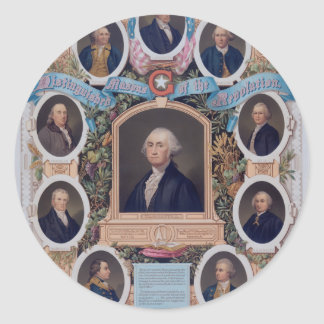 George Washington and The Masons Of The Revolution Round Stickers