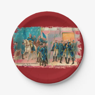 George Washington and Troops Paper Plate
